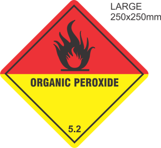 Organic Peroxide Large Vinyl Single Labels