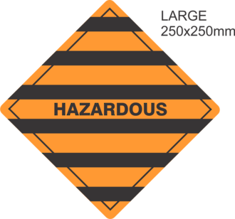Hazardous Large Vinyl Single Labels