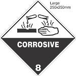 Corrosive 8 Large Vinyl Single Labels