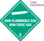 Non Flammable Compressed Gas 2.2 Large Vinyl Single Labels