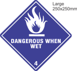 Dangerous When Wet Large Vinyl Single Labels